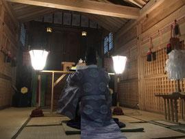 樂樂福神社の御玉串と開運護符の遷霊祭