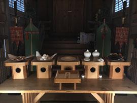 月次祭神饌と本社神札