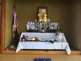 高代部落祭の祭壇