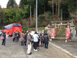 観光バスが到着