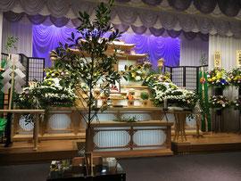 葬場祭 於、葬祭センター「ラシュールほうき」