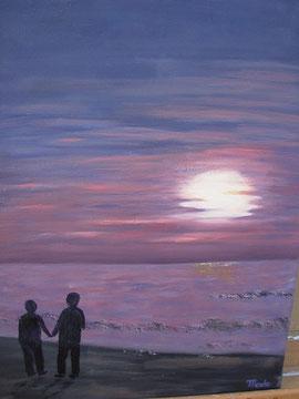 La fin du jour - MaDo artiste peintre amateur
