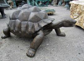 Schilkröte Turtle Bronze Figur figure Garten garden