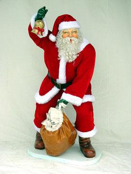 figura de Santa Claus con campana y saco