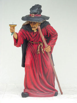 réplica de bruja tamaño real
