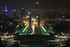 Barcelona nocturna Montjuïc