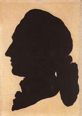 1780 aus weißem Papier ausgeschnitten, schwarz unterlegt.