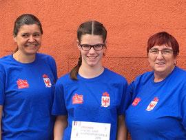 Teilnehmer der Landesmeisterschaften 2018 in Brandenburg(Sabine-Trainer, Gwen- Teilnehmer, Moni-Wertungsrichter)