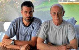 Andrea Bajani e lo scrittore e amico Antonio Tabucchi