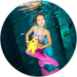 Bubble Swim Meerjungfrauen-Schwimmkurse Reka-Feriendorf Hasliberg Bern