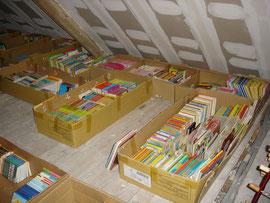 Le stock de livres
