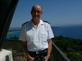 Christian Coussanes chef de poste du Sémaphore de Ramatuelle, 2007 - Ph M.A.