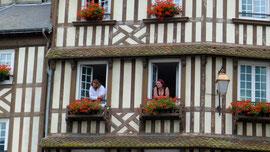 Typisch normannisches Haus in Honfleur