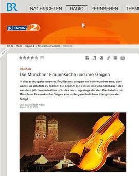 Beitrag BR: Die Münchner Frauenkirche und ihre Geigen