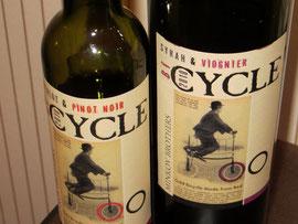 Velofahrer trinken Velofahrerwein! Witzige Etikette und erst noch guter bulgarischer Wein.