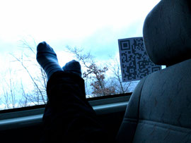 Chillen auf dem Rücksitz.