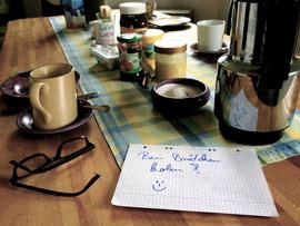 Eine liebevolle Geste meiner Cousine während meines Aufenthaltes in Süddeutschland.