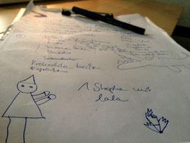 So sieht das übrigens aus, wenn wir gemeinsam komponieren.