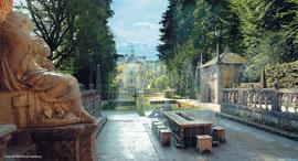visita do Palácio Hellbrunn perto de Salzburgo com guía de lingua portuguesa
