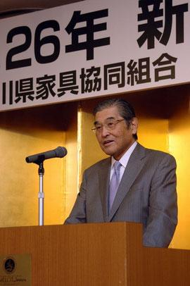 組合員の連携を呼びかけた神奈川県家具協同組合神谷光信理事長