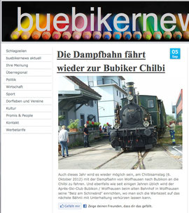 "Artikel ""buebikernews"" vom 5. SDeptember 2012"