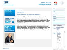 Markus Gisler auf der FDP-Website...