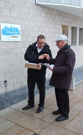 Die beiden Köpfe der Petition: Toni Hintermann und Hansruedi Hunziker