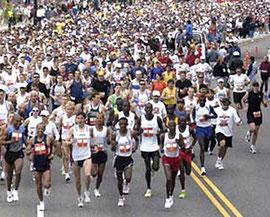 Une course de marathon