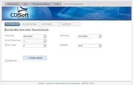 WEB-MX Zimmerabfrage und Buchungsfunktion