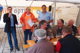 Christian Zechmeister, Heidi Hahnekamp und Hans Moser