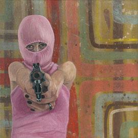 Ragone & Reichardt, Ladykiller, 2012, Eitempera auf Lwd, 40 x 40 cm