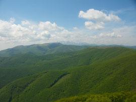 Überquerung von Balkan-Gebirge in Bulgarien
