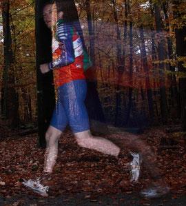 Hier bin ich beim Joggen: hält fit und bläst das Hirn nach der Arbeit frei...