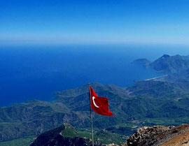 Blick vom Gipfel des Tahtali