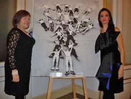 in foto l'artista Elisa Martorana e la nobile Beatrice Feo Filangeri
