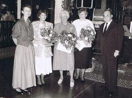 v.l. Anita Olesch, Brigitte Preuß, Anna Heyer, Elsbeth Zühlsdorf, Otto Eckard