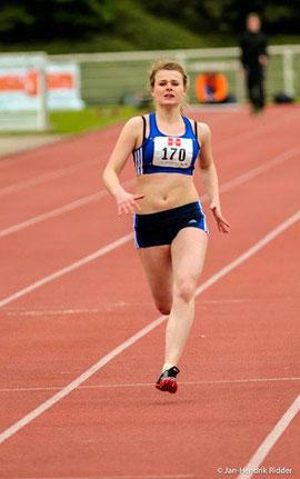 Nicole Pollman erkämpfte im Sprint und mit der Staffel wertvolle Punkte für die Mannschaft.