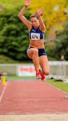 Mit 12,92 Metern sprang Klaudia Kaczmarek ihre zweitbeste Freilufleistung