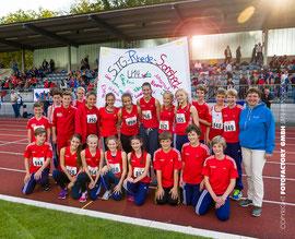 Die erfolgreichen Nachwuchsathleten aus Rhede und Sonsbeck mit Trainerin Heidi Langguth.