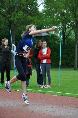 Mit 34,37 m gelang Dorothee Klump der beste Wurf des Tages mit dem Speer