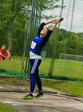 Neue Bestleistung für Hammerwerferin Maximiliane Langguth: 54,10 Meter