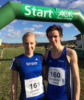 Jasmin Nieland und Jonathan Kolks freuten sich über ihre tollen Laufleistungen.