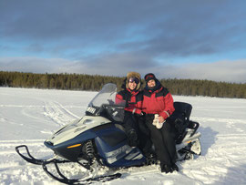 Snowmobile in Lapland