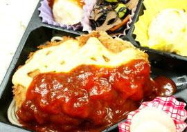 ハンバーグチーズカツレツ弁当  1080円(税込)