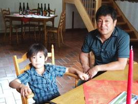浅野さんと御長男