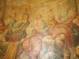 Affresco della Pentecoste nell'ex Carmelo di Fasano