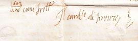 Autografo di A. de' Medici