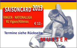 Saisoncard 2013