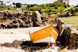 Les îles Chausey (départ de Granville) : sa pêche à pieds, ses paysages, sa tranquillité.