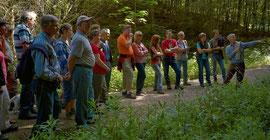 Bei der Wanderung führte der Forstbeamte Heinrich Flurl die Teilnehmer zu unterschiedlichen Standorten im Stabmeierforst und erläuterte deren Besonderheiten.